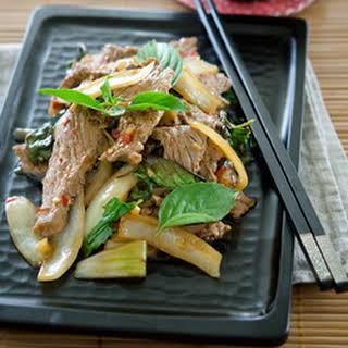 Thai Beef and Basil Stir-Fry.