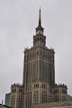 """Photo: Palác kultury a vědy – """"dar"""" Stalina polskému národu, byl vystavěn v letech 1953-55."""