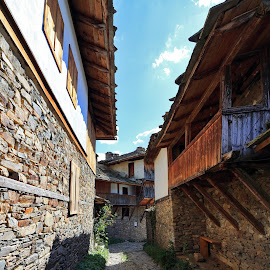Kovachevitsa by Sergey Sokolov - Buildings & Architecture Homes ( country, hinge, bulgaria, tourism, threshold, rustic, province, agricultural, doorbell, houses, homes, farm, village, resort, entrance, portal, architecture, farmhouse, sightseeing, hiking, doorway, agrarian, urban, district, gate, travel,  )