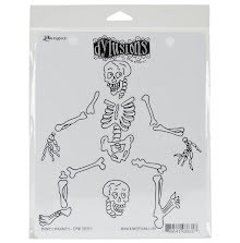 Dylusions Cling Stamps 8.5X7 - Boney Maloney