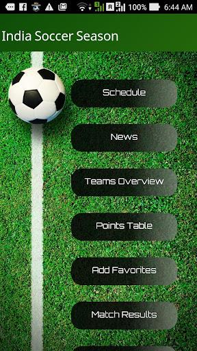 India Soccer Season