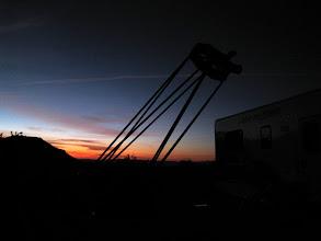 Photo: Telescope at dusk