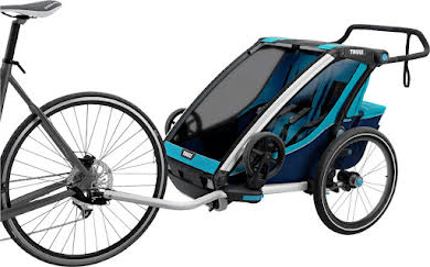 Thule Chariot Cross 2 Trailer and Stroller: Blue, 2 Child alternate image 0