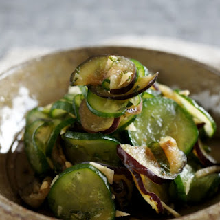 ASAZUKE(Lightly-Pickled) Eggplant, Cucumber and Shiso Leaves
