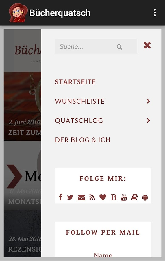 Bücherquatsch- screenshot