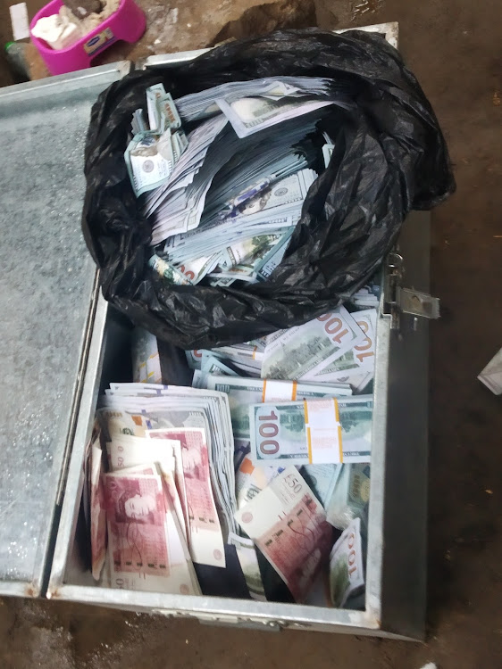 Some of the fake currencies seized by Ruiru detectives from three suspects on Monday evening.
