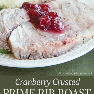 Cranberry Crusted Prime Rib Roast.