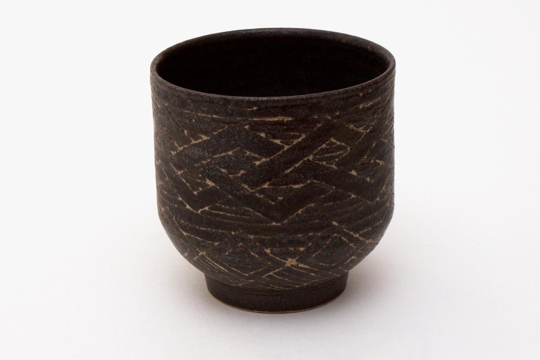 Chris Carter Carved Ceramic Yunomi 2