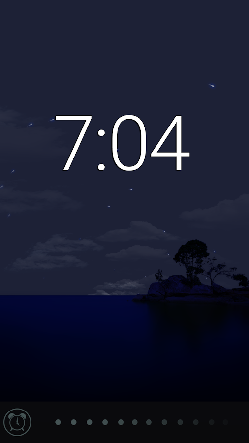 Glimmer (luminous alarm clock)- screenshot