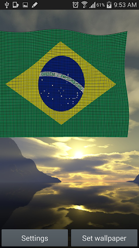Brazil Flag Live Wallpaper 3D