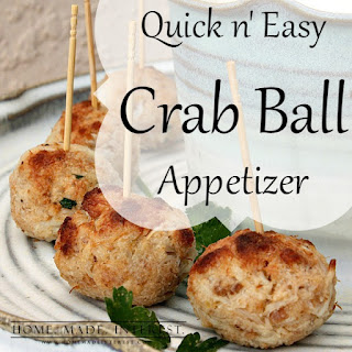 Quick n' Easy Crab Ball Appetizer.