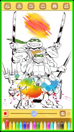 Ninja Hero Turtle Coloring Book apkmind screenshots 3