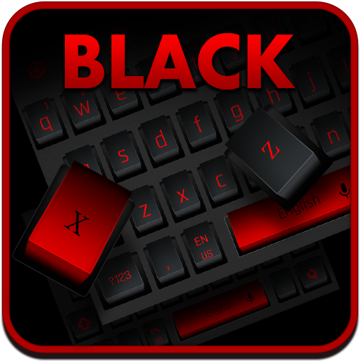 Modern Black Red Keyboard