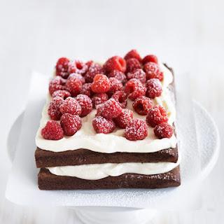 Flourless Raspberry Cloud Cake.