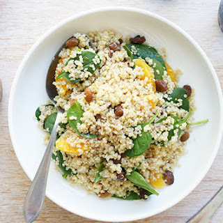 Quinoa Salad with Balsamic Maple Dressing.