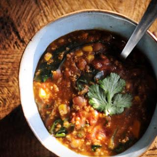 Instant Pot Millet & Pinto Bean Chili (Gluten-Free, Vegan).