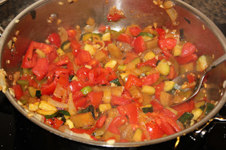 Photo: I made a ratatouille! It was delicious. I have never cooked or eaten eggplant before! I got the recipe here:http://www.jamesbeard.org/recipes/ratatouille