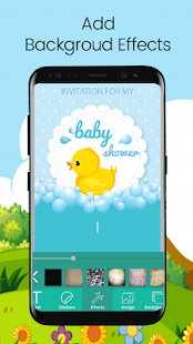 Baby Shower Invitation Card Editor - náhled