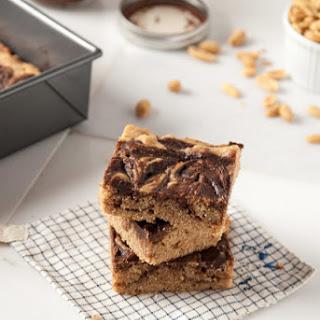 Vegan Peanut Butter + Nutella Bourbon Blondies (+ a Baby Shower!)