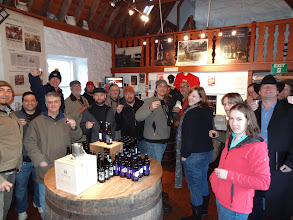 Photo: Here's the entire group arriving for our morning tour of Traquair House visitors center and brewery in Peeblesshire.