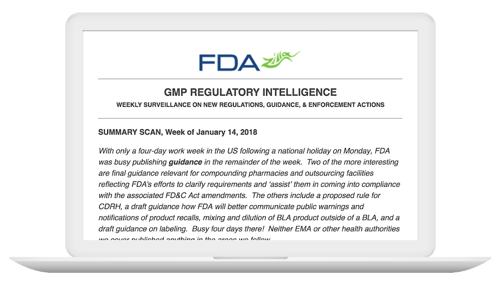 GMP Regulatory Intelligence