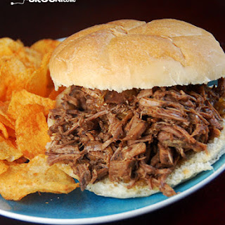 Crock Pot BBQ Steak Sandwiches.
