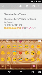 Chocolate Love Emoji Keyboard screenshot 1