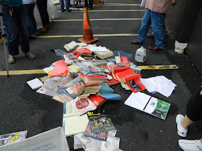 Photo: There are still a good bit of materials remaining in the pile.