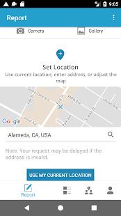 Alameda SeeClickFix - náhled