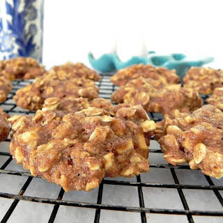 Clean Eating Spiced Apple Oatmeal Cookies.