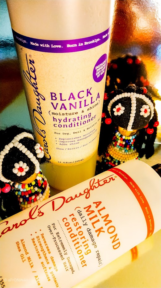 cabello afro largo acondicionador Carol's Daughter Black Vanilla hydrating conditioner Almond Milk restoring conditioner