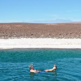 Atacama Salt lakes by Jackie Mold - Landscapes Deserts ( atacama, chile, desert, south america, salt pools )