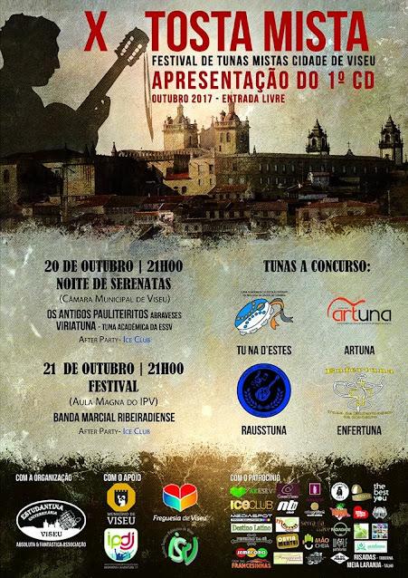 X Tosta Mista - Festival de Tunas Mistas da Cidade de Viseu - 20 a 22 de outubro de 2017