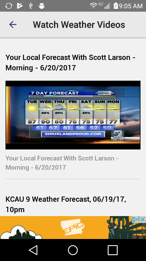 KCAU 9 Weather Siouxland- screenshot