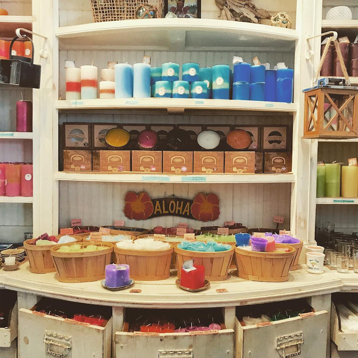 A selection of candles to smell and enjoy. Photo: Island Soap Co.