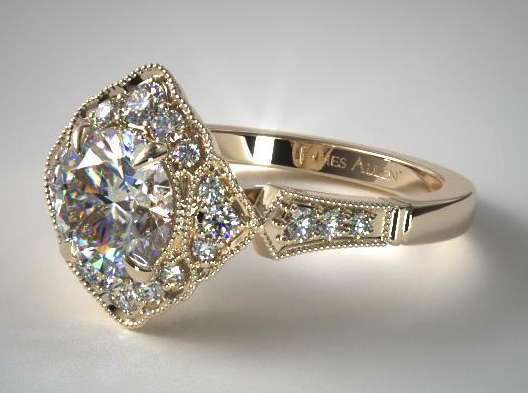 Yellow Gold Regal Frame Diamond Ring from James Allen