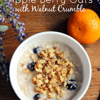 Apple Berry Oats with Walnut Crumble
