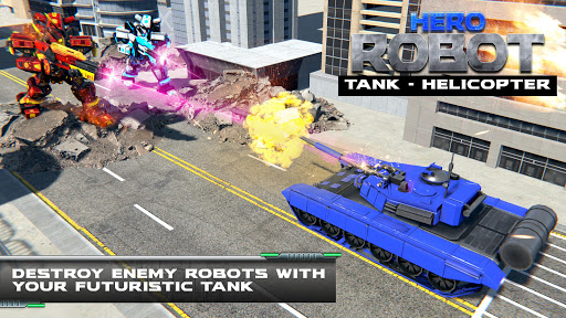 Helicopter Transform War Robot Hero: Tank Shooting 1.1 screenshots 4