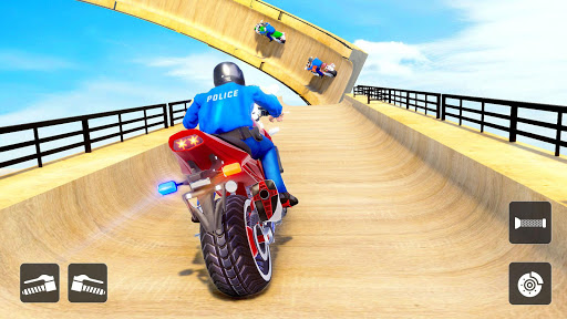 Police Bike Stunt Racing: Mega Ramp Stunts Games modavailable screenshots 15