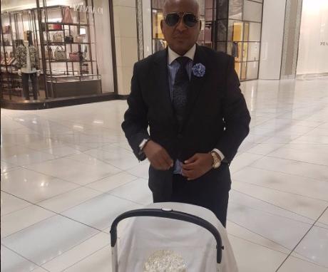 Kenny Kunene has dressed his son in designer threads.