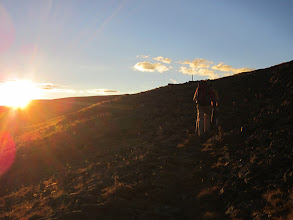 Photo: Goodbye sun, as we approach 12,760ft along the Continental Divide.