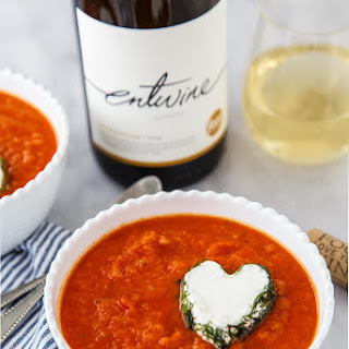 Tomato Fennel Soup (with Goat Cheese Hearts)