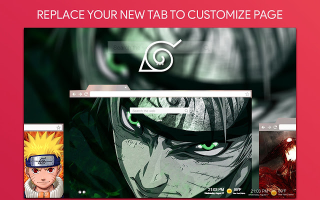 Naruto Wallpaper HD Custom New Tab