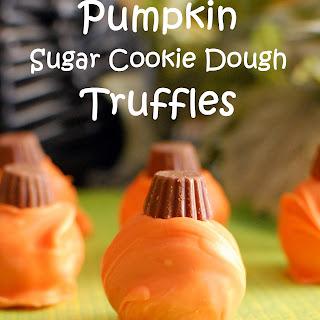 Pumpkin Sugar Cookie Dough Truffles