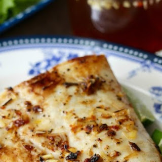 Pan Fried Halibut with Lemongrass and Nước Chấm Dipping Sauce.