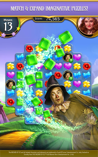 The Wizard of Oz Magic Match 3 - screenshot