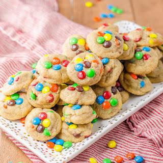 Mini M&M Peanut Butter Cookies