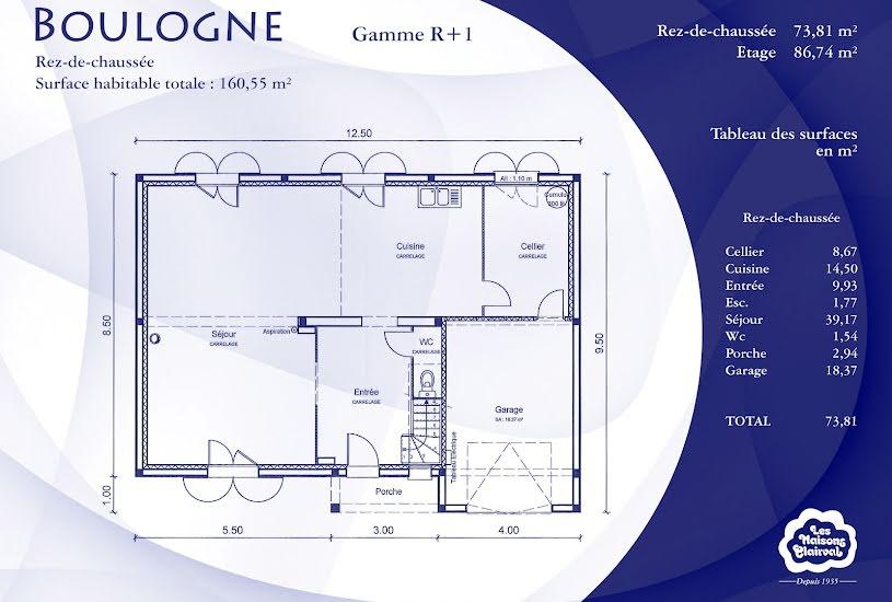 Vente Terrain + Maison - Terrain : 825m² - Maison : 93m² à Écuelles (77250)