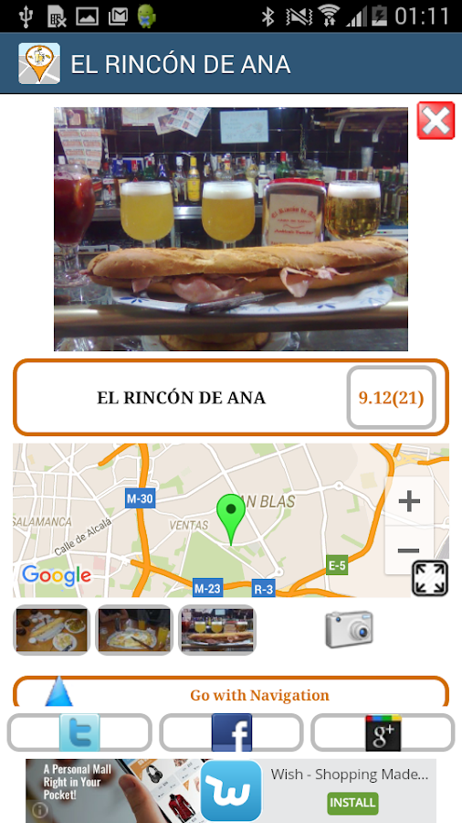 Spanish free tapas (taapas.es)- screenshot