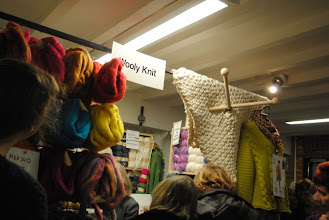 Photo: Wooly Knit sold rovings and the biggest knitting needles.